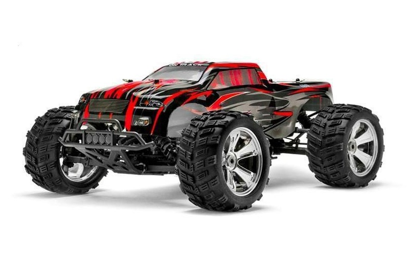 Himoto 1:8 BIG SCALE Brushless RAIDER + LIPO! - Red