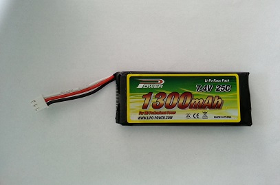 7.4V 1300mAh LiPo Accu 1 connector