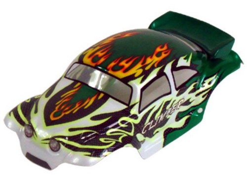 Casing Baja Beetle Green Flames