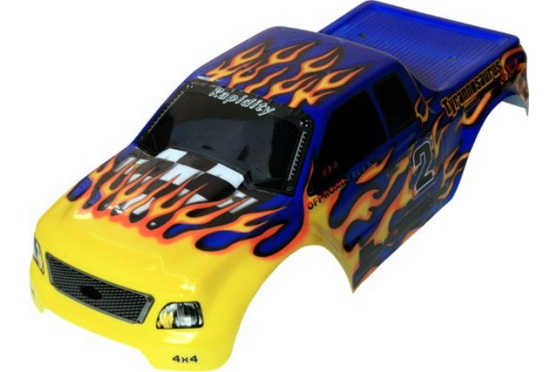 Casing Truck Blue Flames
