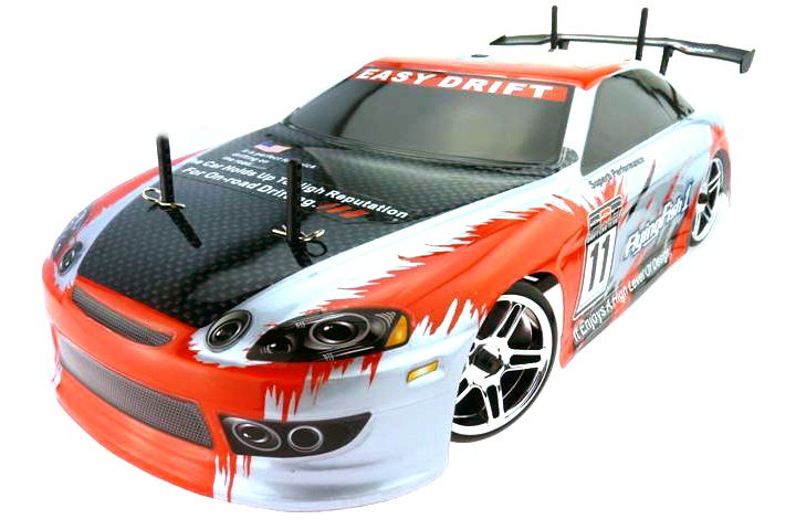 Fast Himoto 1:10 Brushless Drift Auto Red Carbon