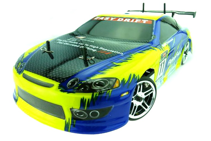 Fast Himoto 1:10 Brushless Drift Auto Yellow Carbon