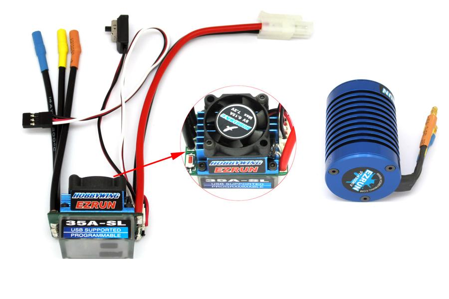 EZRun Brushless Motor + 35A ESC Kit AANBIEDING