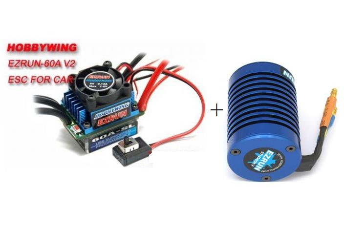 EZRun 60A Brushless Upgrade Set [Motor+Regelaar!]