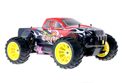 Himoto 1:10 Nitro Truck Black Red