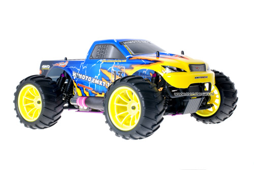 Himoto 1:10 Nitro Truck Blue Yellow Atlas