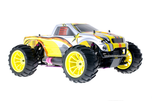 Himoto 1:10 Nitro Truck Grey Yellow
