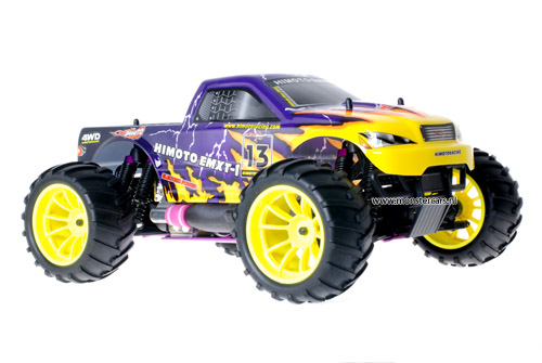 Himoto 1:10 Nitro Truck Purple Lightning