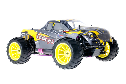 Himoto 1:10 Nitro Truck Yellow Carbon