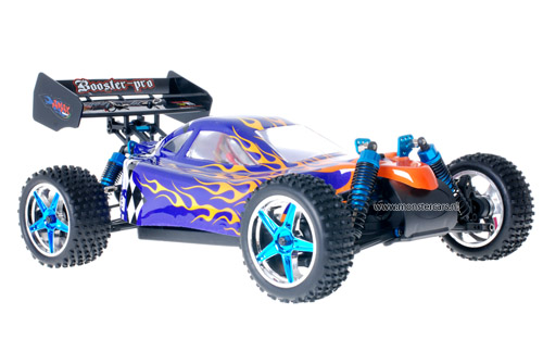 Fast 1:10 Brushless Buggy Blue Flames 2.4GHz AANBIEDING!