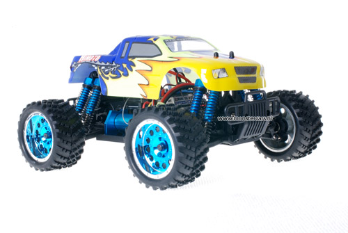 Himoto 1:16 Brushless Truck 2.4GHz Blue Explosive
