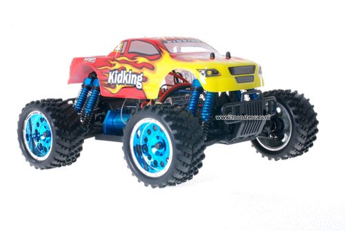 Himoto 1:16 Brushless Truck 2.4GHz Red Flames