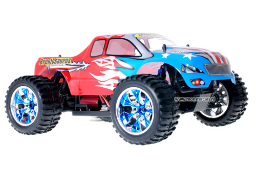 Himoto Brushless Truck American Flag Red 2.4GHz AANBIEDING!