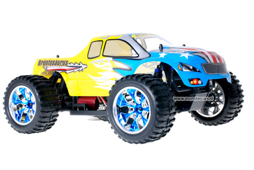 Himoto Brushless Truck American Flag Yellow 2.4GHz AANBIEDING!
