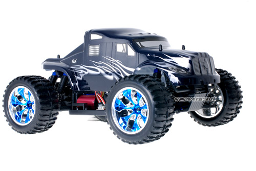 Brushless American Truck Black + LED-Lights AANBIEDING!