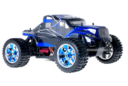 Brushless American Truck Blue + LED-Lights AANBIEDING!