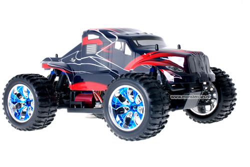 Brushless American Truck Red + LED-Lights AANBIEDING!