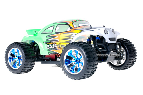 Brushless Baja Beetle Green + LED-Lights AANBIEDING!