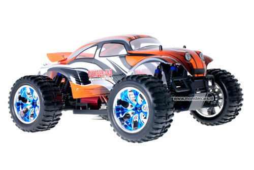 Brushless Baja Beetle Orange + LED-Lights AANBIEDING!