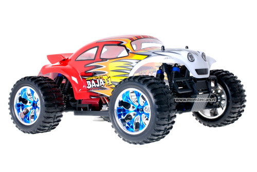 Brushless Baja Beetle Red + LED-Lights AANBIEDING!