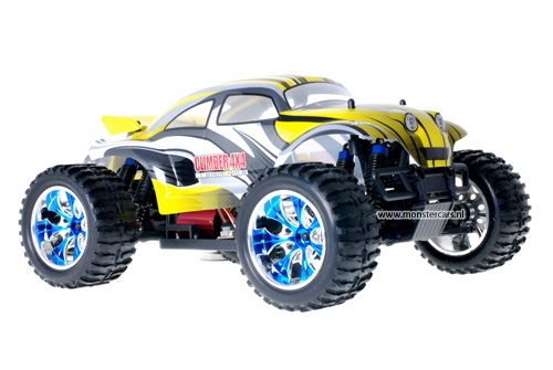 Brushless Baja Beetle Yellow + LED-Lights AANBIEDING!