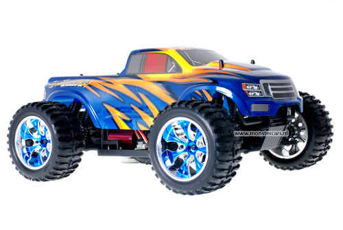 Himoto Brushless Truck Blue Canon 2.4GHz AANBIEDING!