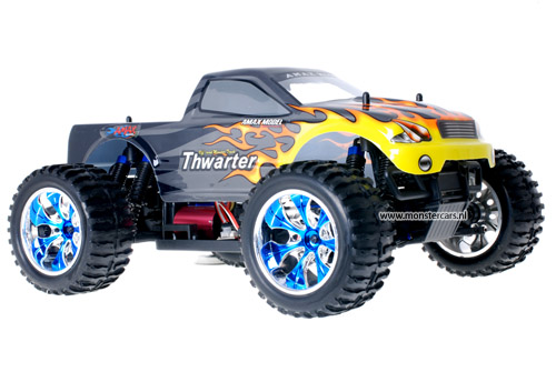 Himoto Brushless Truck Grey Flames 2.4GHz AANBIEDING!
