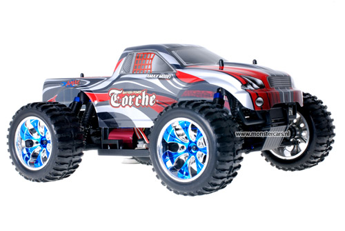 Brushless Truck Grey Red AANBIEDING!