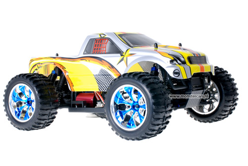 Himoto Brushless Truck Grey Yellow 2.4GHz AANBIEDING!