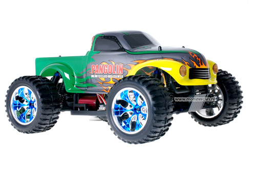 Himoto Brushless Truck Pangolin Green 2.4GHz AANBIEDING!