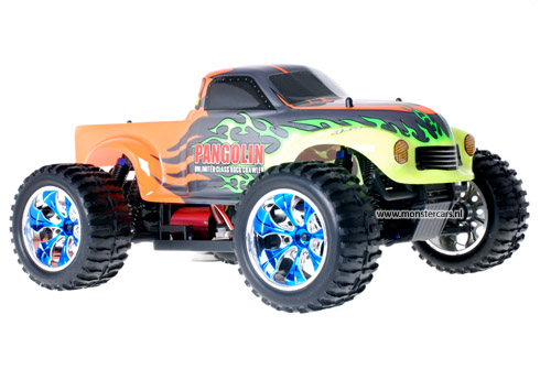 Brushless Truck Pangolin Orange + LED-Lights AANBIEDING!