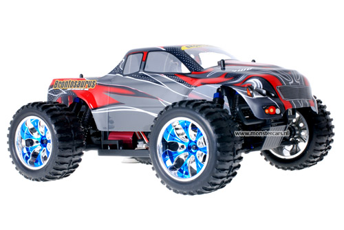 Himoto Brushless Truck Red Carbon 2.4GHz AANBIEDING!