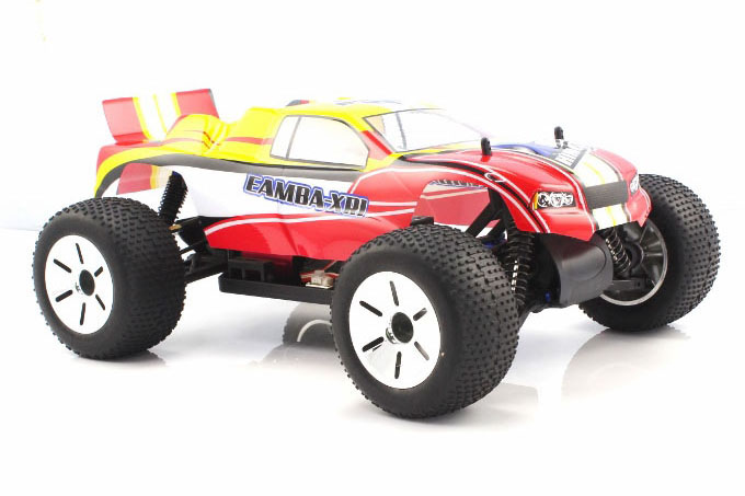 Himoto 1:10 Brushless EAMBA Truggy Red Yellow