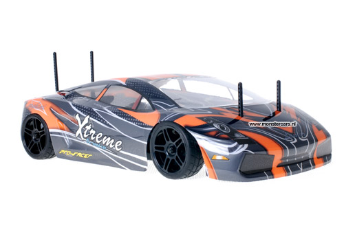 Himoto 1:10 Lamborghini Orange Carbon RC Auto