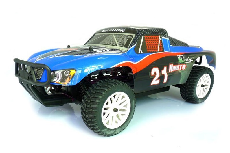 Himoto 1:10 Brushless Short Course Blue Carbon