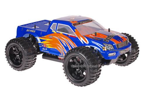 Himoto 1:10 Truck Blue Orange AANBIEDING!