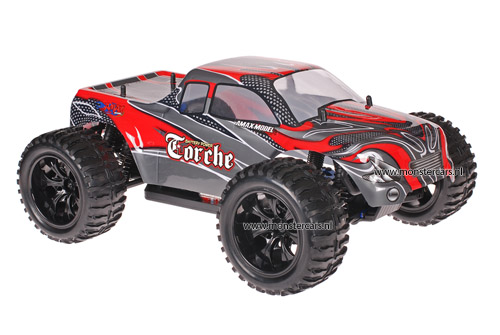 Himoto 1:10 Truck Red Carbon 2.4GHz AANBIEDING!