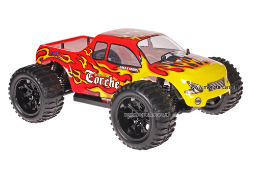 Himoto 1:10 Truck Red Flames 2.4GHz AANBIEDING!