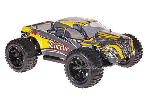 Himoto 1:10 Truck Yellow Carbon 2.4GHz AANBIEDING!