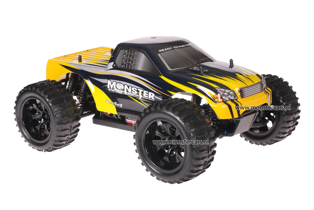 Himoto 1:10 Truck Black Yellow Sting AANBIEDING!