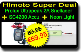 HIMOTO SUPERDEAL: Prolux Snellader + SC4200 Accu + 4-LED Light